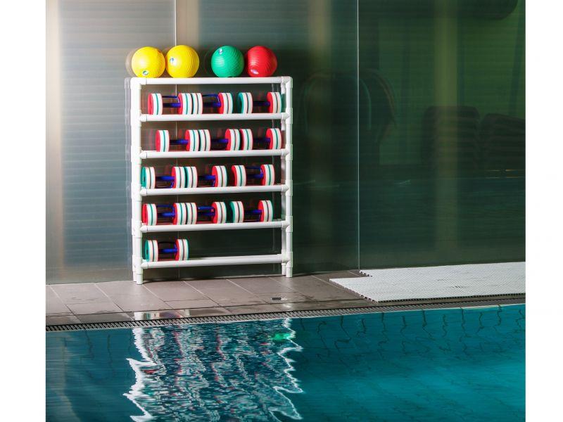 Scaffale porta attrezzi cm 105x17 x h 155 d s for Attrezzi per piscina